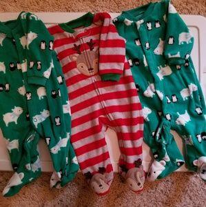Other - Newborn Flannel One Piece Sleeper LOT